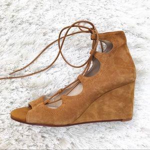 NWT || ZARA Leather Wrap Wedges